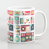technology Mugs featuring Retro Technology 1.0 by Ralph Cifra