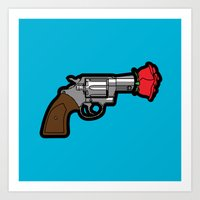 banksy Art Prints featuring Pop Icon - Banksy by Greg Guillemin
