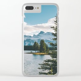 Two Jack Lake & Mt. Rundle Clear iPhone Case