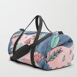 Ocean of Flowers Duffle Bag