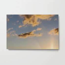 the sky during sunset Metal Print