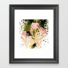 flowers and splash Framed Art Print