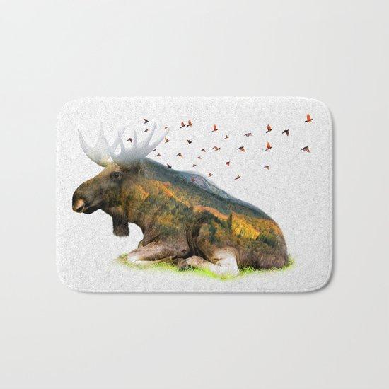 Wild I Shall Stay | Moose Bath Mat