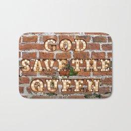 God save the Queen - Brick Bath Mat