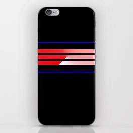 Team Colors 5...Red,blue iPhone Skin