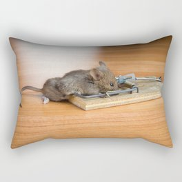 Dead Mouse in Trap Rectangular Pillow