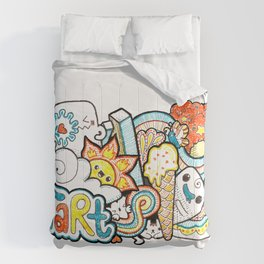 Kawaii Doodle - Just Start Comforters