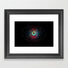 Neon Explosion Framed Art Print
