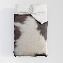 Brown and White Cowhide, Cow Skin Pattern, Farmhouse Decor Comforters