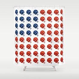 American Football Flag Shower Curtain