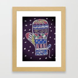 Chalk mitten Framed Art Print