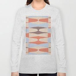 Zaha Blue Retro Long Sleeve T-shirt