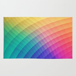 Spectrum Bomb! Fruity Fresh (HDR Rainbow Colorful Experimental Pattern) Rug