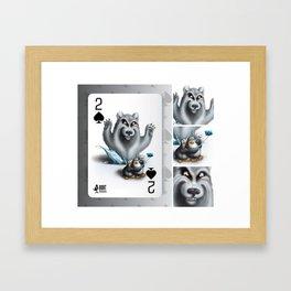 Two of Spades / No selfies! Framed Art Print