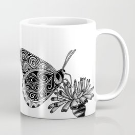 Tangled Butterfly on White Coffee Mug