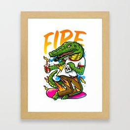 El lagarto Framed Art Print