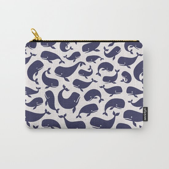 Moby Dick - White Carry-All Pouch