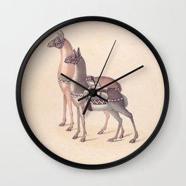 Vintage Illustration of Llamas (1809) Wall Clock