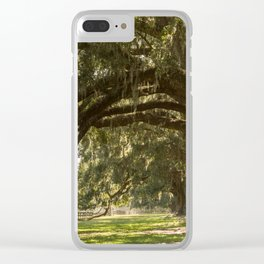 Oak And Moss Clear iPhone Case