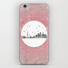 Beijing, China City Skyline Illustration Drawing iPhone Skin