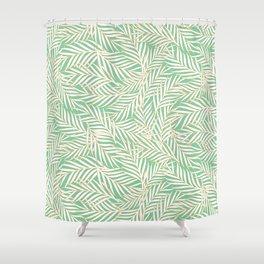 Palm Leaves - Aquamarine Shower Curtain
