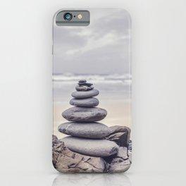 Stone Tower At A Wild Portuguese Beach iPhone Case
