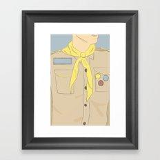 Khaki Scout Framed Art Print