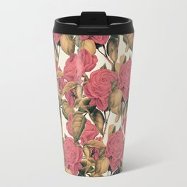 Vintage Dusty Rose Pattern Travel Mug