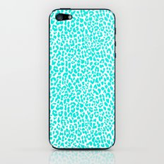 Turquoise Leopard iPhone & iPod Skin