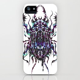 Rainbow scarab iPhone Case