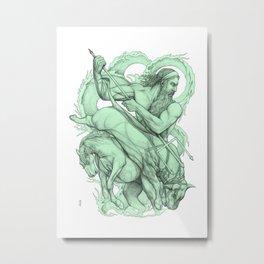 Poseidon: Tamer of Horses, Bull of the Sea Metal Print
