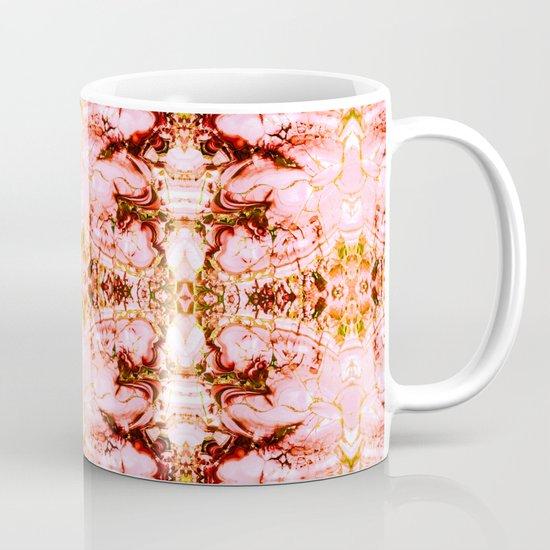 Mosaic Pattern Pink Mineral Texture Coffee Mug By Mmartabc