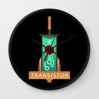 transistor Wall Clocks featuring Transistor [2] by Spiritius