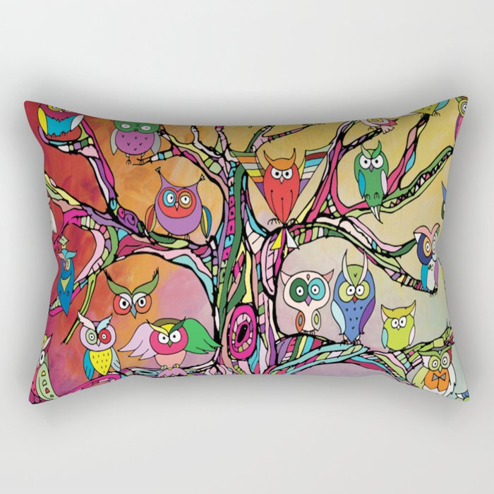 Tree of Owls Rectangular Pillow