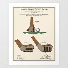 Golf Club Patent Art Print