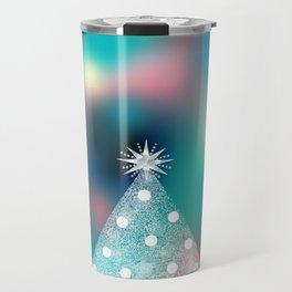 Christmas Tree Blue Travel Mug