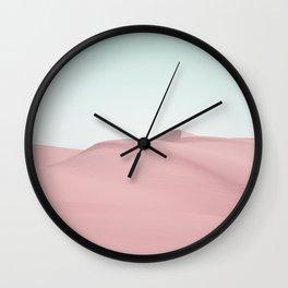 Pink Sand Desert Landscape Wall Clock