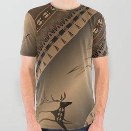 Elk Spirit (Brown) All Over Graphic Tee