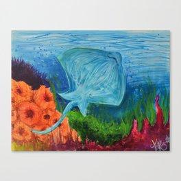 Happy Stingray Canvas Print