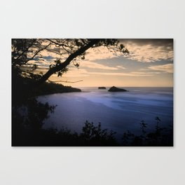 Thatchers Rock and Hope's Nose At Sunset Canvas Print