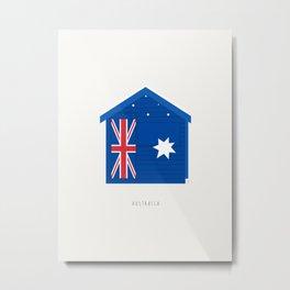 Australia, Brighton Beach Bathing Box, Melbourne Metal Print