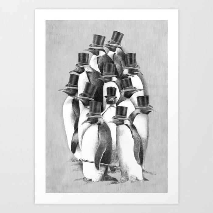 A Gathering of Gentlemen Art Print