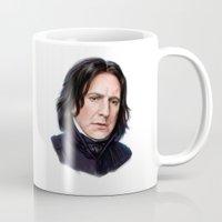 snape Mugs featuring Sad Snape by Annike