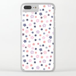 Let it bloom, floral pattern design Clear iPhone Case