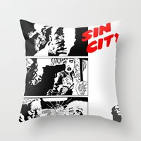 sin city Throw Pillows featuring Sin City by FYeahMelissa