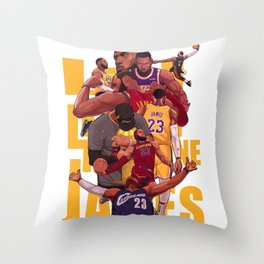 King james of Champion Throw Pillow