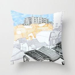 Tokyo landscape Throw Pillow