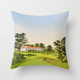 The Olympic Golf Course 18th Hole Throw Pillow
