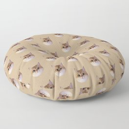 Classy, Chonky, Sassy! by Tootie Bunface Cat Floor Pillow