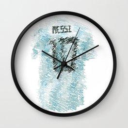 Messi Football Shirt Drawing Wall Clock